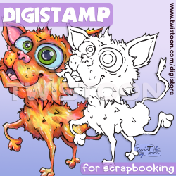 Barney Cat Digistamp Preview