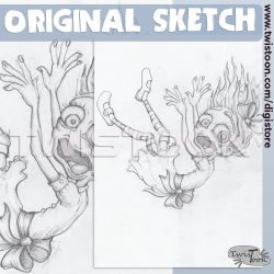 Original Sketch - Down The...
