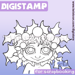 Holly Hair Digital Stamp