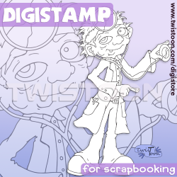 Doctor Digi Stamp for Scrapbooking - Get Well.