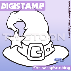 Witches Hat  Digital Stamp