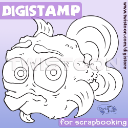 Fish 4 Digital Stamp