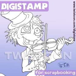 Violin Man Digi Stamp