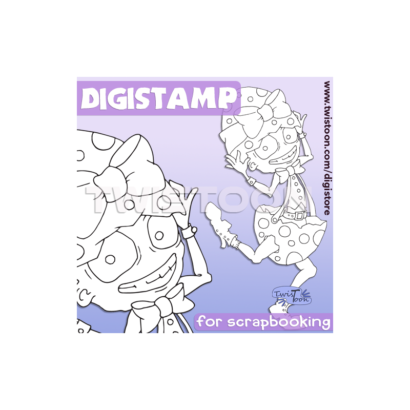 Runaway Egg Digistamp Preview