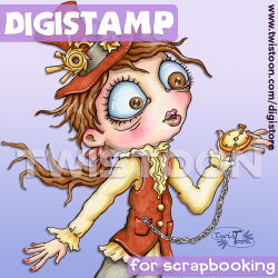 Steampunk Time Digi Stamp