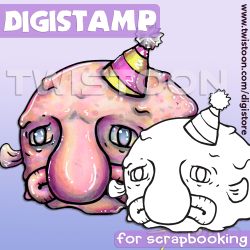 Blob Fish Quirky Digi Stamp