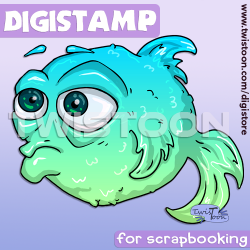Quirky Fish Digi Stamp