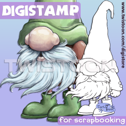 Gnome Digital Stamp
