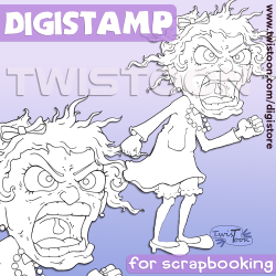 Odette Yelling Digital Stamp