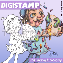 Egg Artist Digital Stamp