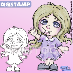 Chibi Welcome Digital Stamp