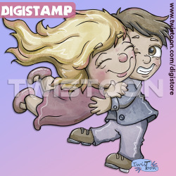 Dive Hug Digi Stamp