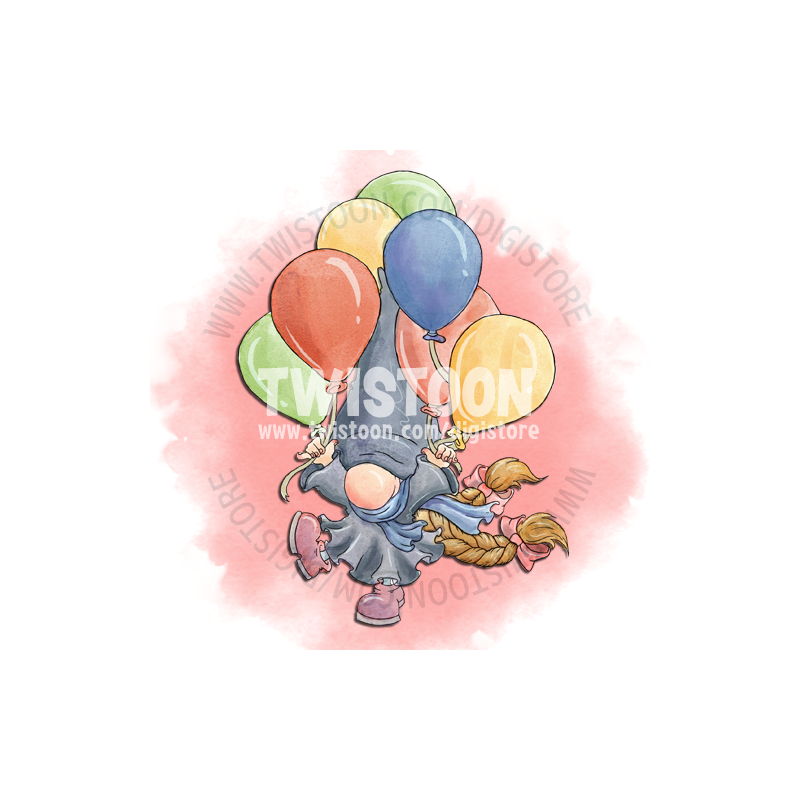 Millys Balloons Digistamp Preview