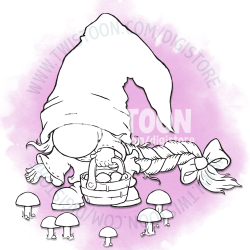 Milly Mushroom Picking Gnome Digi