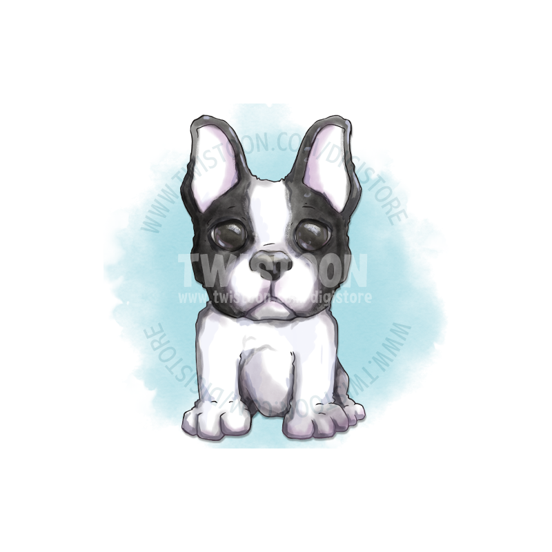French Bulldog Digistamp Preview