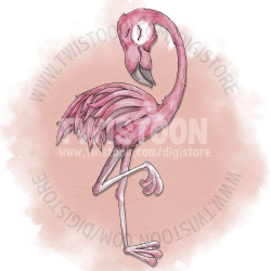 Flamingo Digi Stamp Preview