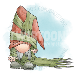Stan Scarf Gnome Digital Stamp