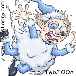 Snowball Fall Digital Stamp