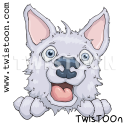 Husky Dog Digital Stamp