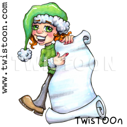 Christmas List Digi Stamp