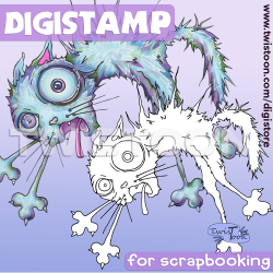 Scaredy Cat Digistamp