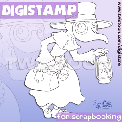 Plague Doctor Digital Stamp