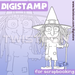 Basic Witch Digital Stamp