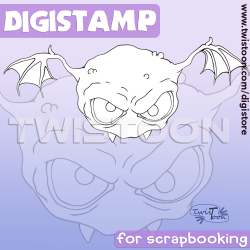 Bill The Bat Digital Stamp