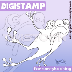 Leaping Frog Digital Stamp