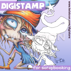 The Tallest Hat Witch Digistamp Preview